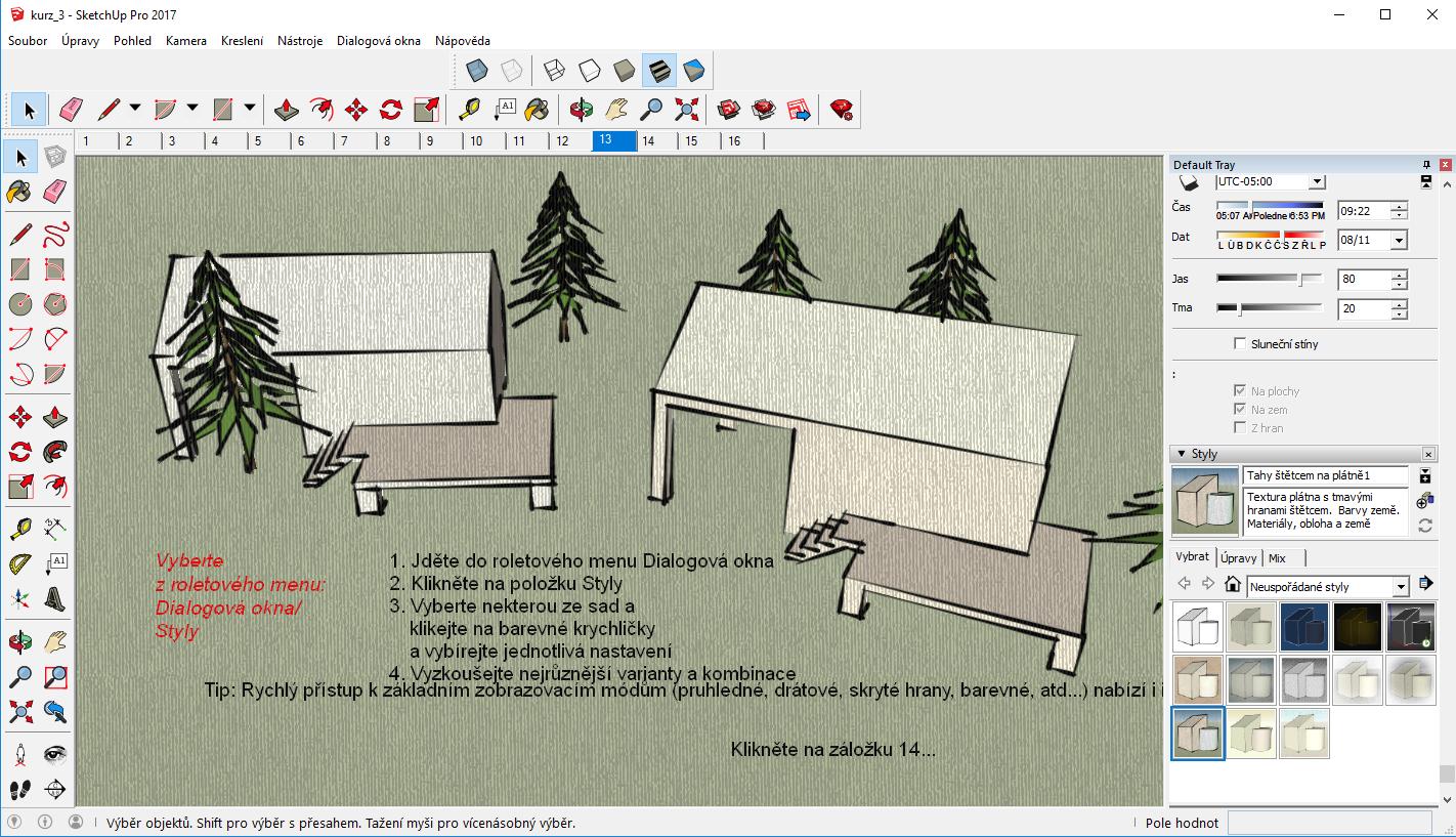 SketchUp učebnica - 3. časť